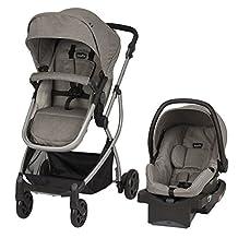 Evenflo Pursuit Modular Travel System LiteMax Infant Car Seat, Stamford Grey, 56612248C