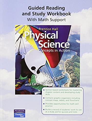 amazon com physical science concepts in action w earth space sci rh amazon com prentice hall science explorer physical science guided reading and study workbook answers prentice hall physical science chapter 3 study guide
