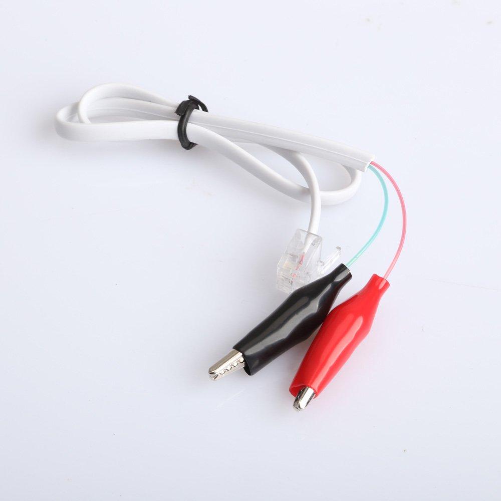 VIPEco Home Phone té lé phone RJ11 Plug Pince crocodile Test testeur de câ ble fil cordon
