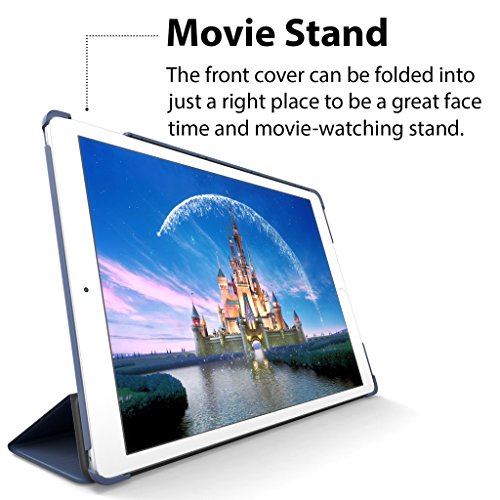 iPad Air Case, ROARTZ Metallic Navy Blue Slim Fit Smart Rubber Coated Folio Case Hard Shell Cover Light-Weight Auto Wake/Sleep For Apple iPad Air 1st generation Model A1474/A1475/A1476 Retina Display by ROARTZ (Image #6)
