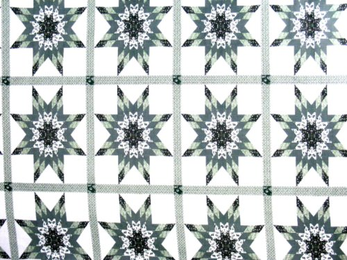 Cheaters Quilt Top Material Fabric Starlast Green 90