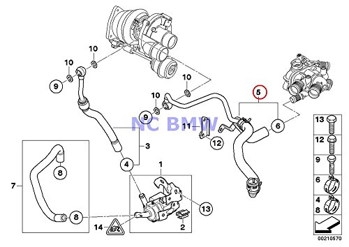 BMW Mini Genuine Turbocharger Coolant Hose - Return from Turbo (3-Way Hose) Coop.S JCW Cooper S Coop.S JCW Coop.S JCW Cooper S Coop.S JCW Coop.S JCW Cooper S Coop.S JCW Coop.S JCW Coop.S JCW