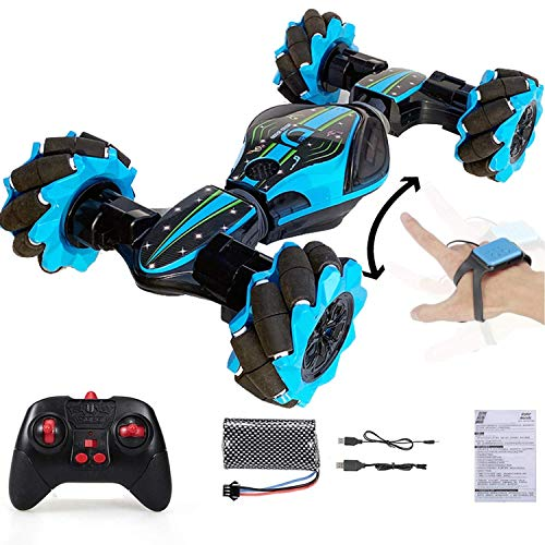 Ixir New Rc Stunt Car, Gesture Sensing Twisting Vehicle Drift Car Remote Control Stunt Toy Car, 2.4G Four-Wheel Driving Toy - 40 Min Standby Suitable for Any Terrain, Christmas Rc Car Children Gift