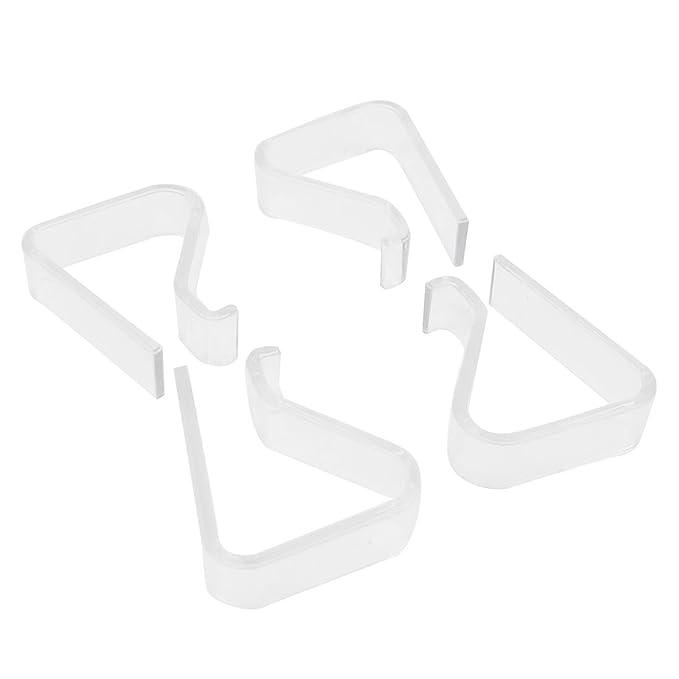 sourcing map Sujetamanteles para Hogar Plástico Blanco 20-35mm 4 ...