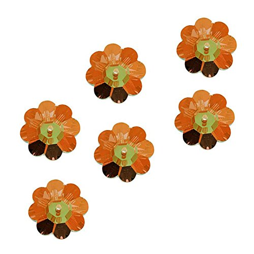 Swarovski Crystal, 3700 Flower Margarita Beads 6mm, 12 Pieces, Crystal Copper