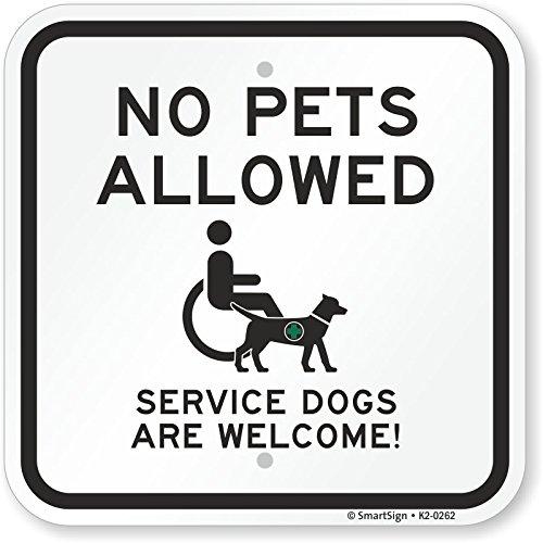 No Pets Allowed Sign (SmartSign by Lyle K2-0262-AL-12x12