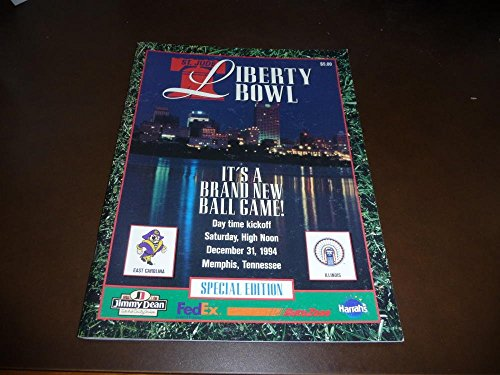 1994 LIBERTY BOWL COLLEGE FOOTBALL PROGRAM ILLINOIS EAST CAROLINA NR MINT (Football Programs compare prices)