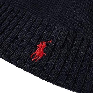 Ralph Lauren Polo Beanie Hat Wool Black