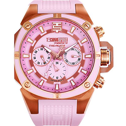 TechnoSport Woman's Chrono Watch - Silber / Ligth Rose