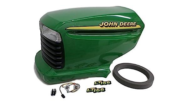 Amazon Com John Deere Lt166 Complete Hood Am131759 Am132530