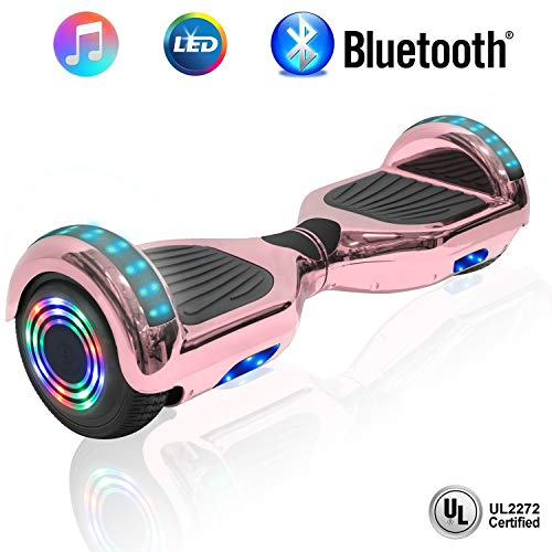 NHT 6.5' inch Aurora Hoverboard Self Balancing Scooter with Colorful LED Wheels and Lights - UL2272 Certified [Built-in Bluetooth Speaker on Select Models]