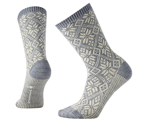 Smartwool Traditional Snowflake Lifestyle Socks (Blue Ice Heather) Small