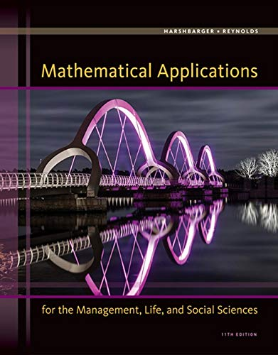 Mathematical Applications for the Management, Life, and Social Sciences from Brooks / Cole