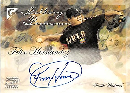 Autograph Warehouse 344722 Felix Hernandez Autographed Baseball Card - Seattle Mariners King SC 2005 Topps Gallery No. GPAFH Rookie Certified   B075C3BHQ7
