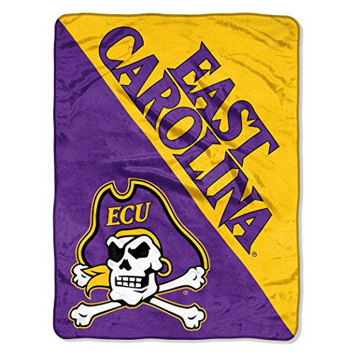 The Northwest Company Officially Licensed NCAA East Carolina Pirates Halftone Micro Raschel Throw Blanket, 46