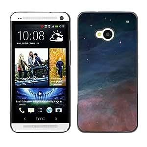 Combinar de dos fuerzas - Metal de aluminio y de plástico duro Caja del teléfono - Negro - HTC One M7