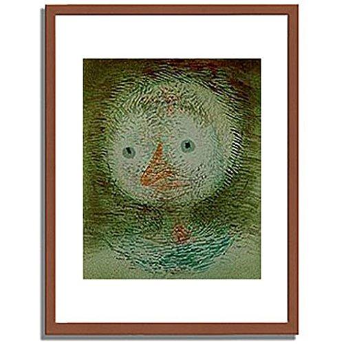 パウルクレー 「Maske dummes Madchen. 1928. 」 インテリア アート 絵画 壁掛け アートポスター フレーム:木製(茶) サイズ:L (412mm X 527mm) B00NG0WBRG 3.L (412mm X 527mm)|1.フレーム:木製(茶) 1.フレーム:木製(茶) 3.L (412mm X 527mm)