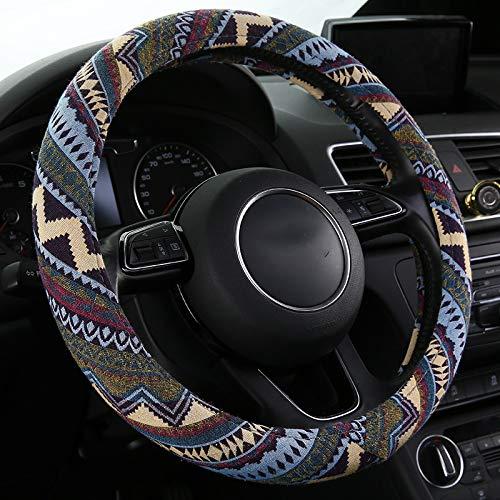(SHAKAR Bohemian Style Steering Wheel Covers-Universal Fit,15 inch (Bohemian))
