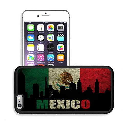 Luxlady Premium Apple iPhone 6 Plus iPhone 6S Plus Aluminum Backplate Bumper Snap Case IMAGE ID: 18935942 View of Mexico on the Grunge Mexican (Mexico Antique)