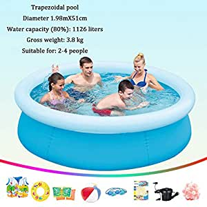 DSFGHE Piscina Hinchable Fast Set con Anillo Hinchable ...