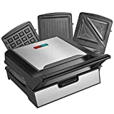 CUSIBOX Waffle Maker, Sandwich Maker 3-in-1 Electric Panini Press Grill Deal (Small Image)
