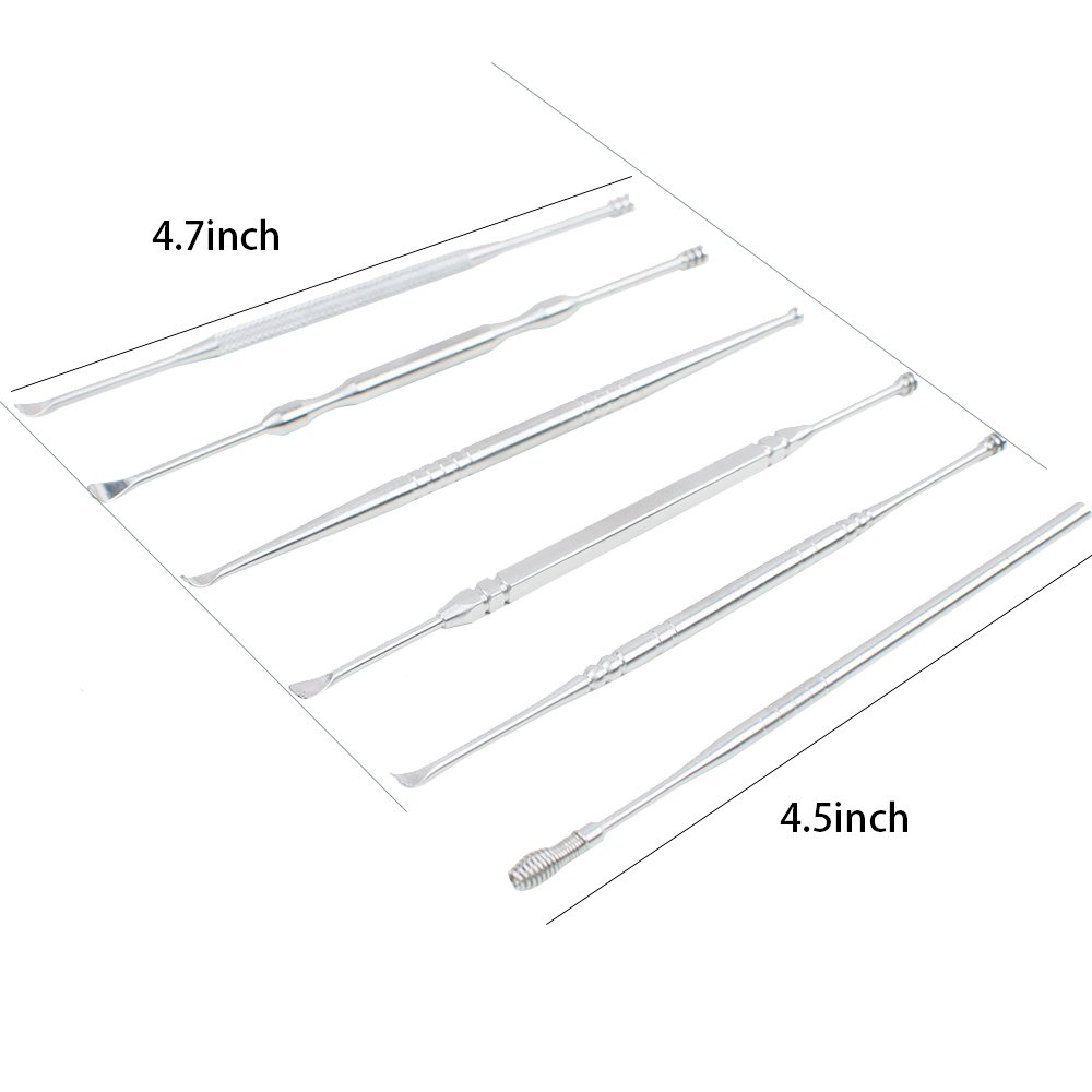 Zinnor 6 Pcs Ear Wax Remover Ear Pick Set Ear Curette Earwax Removal Kit Clean Tool with Storage Box by Zinnor (Image #4)