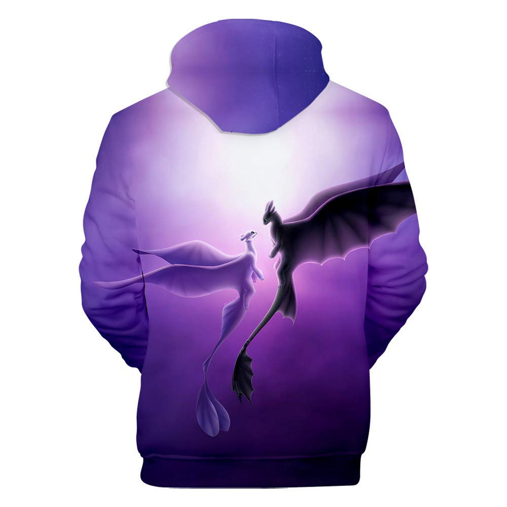 LafaVida How to Train Your Dragon Hoodie Hiccup Night Fury Boy Girl Purple