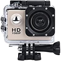 DanCoTech Action Camera with Waterproof casing 1080P FHD Sports DV Recording (Gold Color)