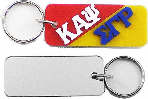 Kappa Alpha Psi + Sigma Gamma Rho Mirror Split Keychain [Red/Gold - 3
