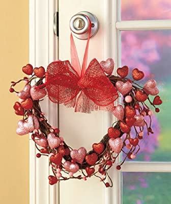 Valentines Day Spring Holiday Heart Wreath