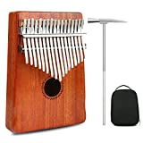 Thumb Piano Kalimba 17 Keys Finger Piano Mbira Likembe Sanza Professional Series Instrument Gift Solid Mahogany Wood with Protable Portection Bag