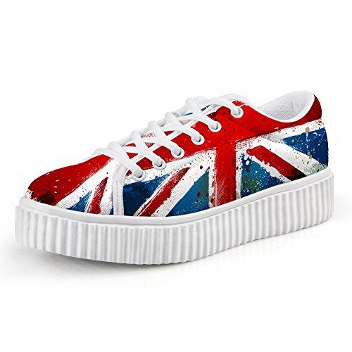 CHAQLIN Stylish UK Flag Printing Printing Printing Thick Bottom Skate Shoes for College Girls 40 B074ZCVZCH Shoes ed0a4b