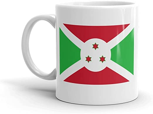 DV Mugs Ltd Taza con la Bandera de Burundi, diseño de Bujumbura Kibira National Park, Regalo de Viaje, Viaje en África #4554: Amazon.es: Hogar
