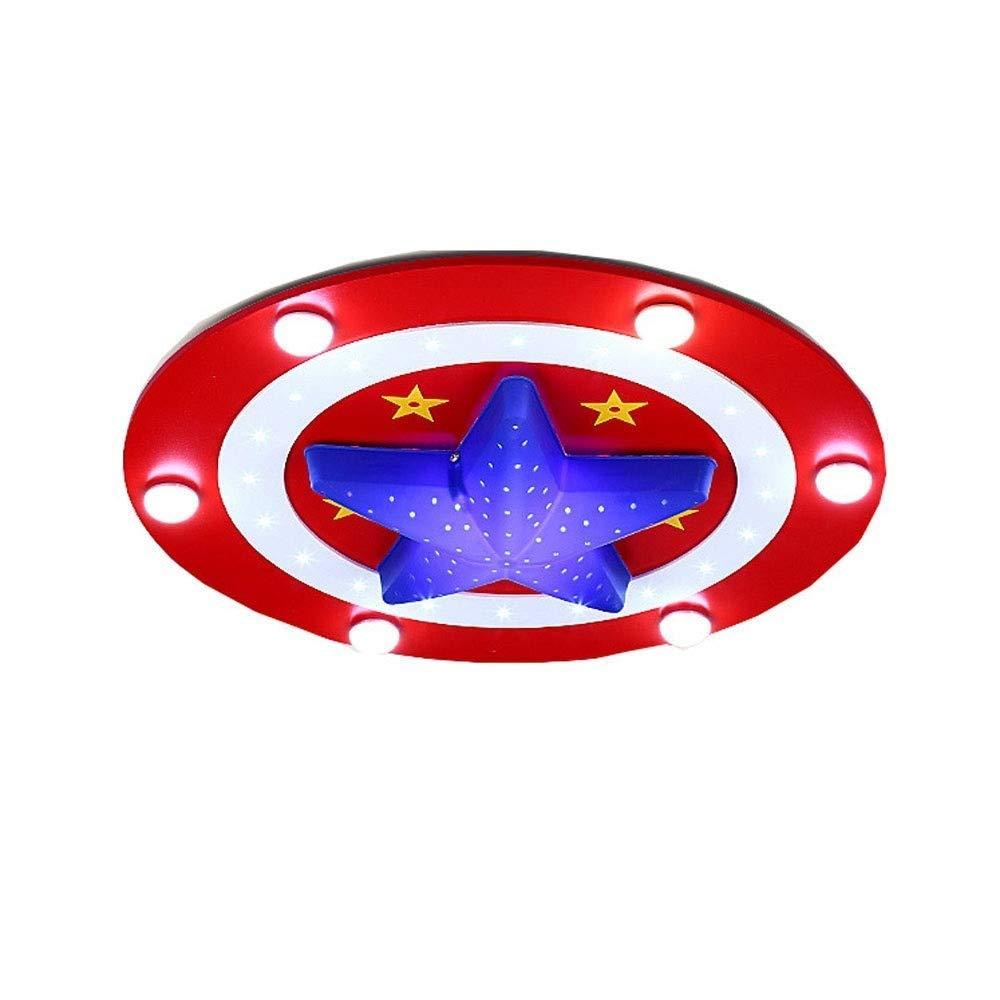Rot Wzlight Kinder LED Deckenleuchte Schlafzimmer Kronleuchter Moderne Deckenleuchte LED-Licht Cartoon kreatives Design Runde 30W Deckenleuchte Schlafzimmer Wohnzimmer dimmbar (Farbe   Rot)
