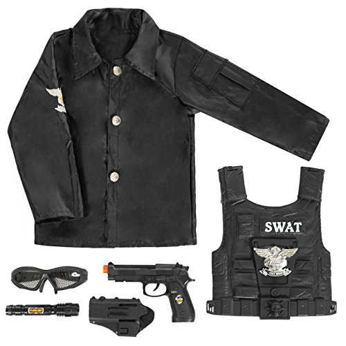 Best Choice Products 7-Piece Kids Swat Dress-Up Play Set (Black) for $<!--$21.99-->