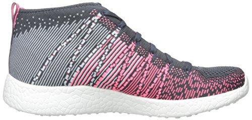 Skechers Sport Dames Burst Uitlopende Demi Boot Sneaker Roze / Multi / Grijs