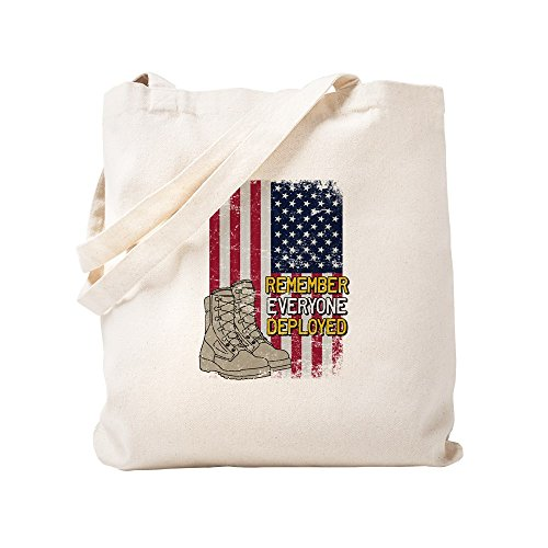 CafePress - Red Friday American Flag Boot - Natural Canvas Tote Bag, Cloth Shopping Bag by CafePress