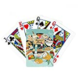 beatChong Taiwan Travel Night market Snake Poker Playing Card Tabletop Board Game Gift