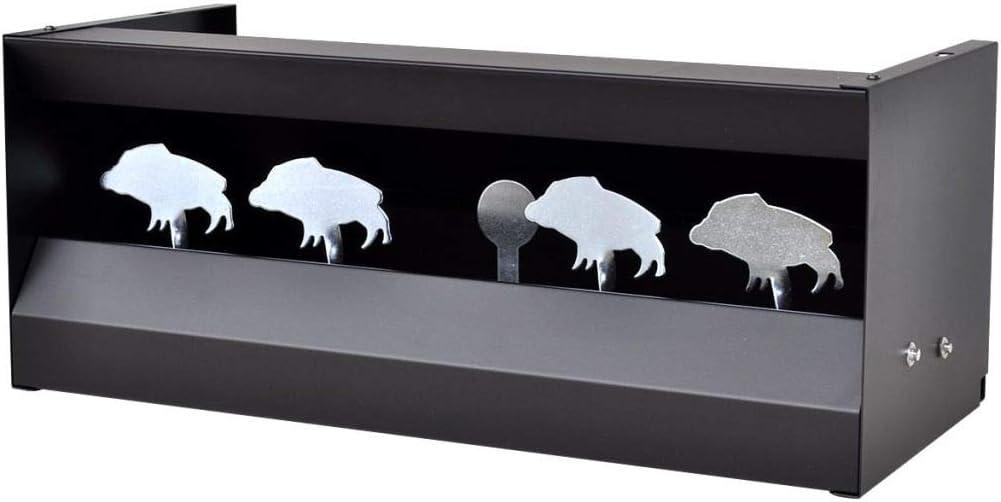 Tidyard Blanco de Tiro Magnetico de 4+1 Objetivos en Forma de Jabalí para Larga Distancia,Escopetas de Aire Comprimido,Pistolas y Pistolas de Aire,Construcción de Acero,49x22x20cm