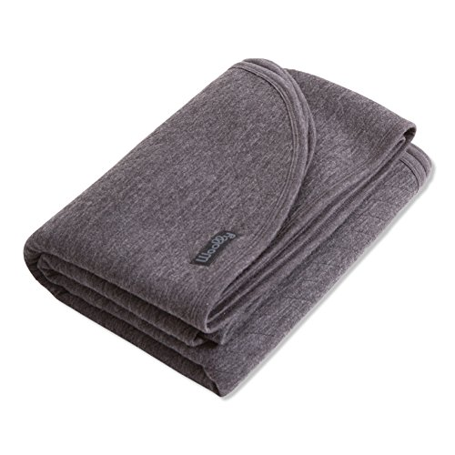Merino Blanket - Woolly Clothing Co Merino Wool Quilted Throw Blanket (310 GSM) Charcoal