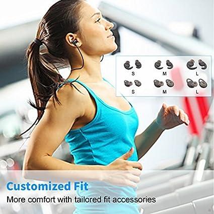 Android tel/éfonos Negro CM-7 Auriculares Inal/ámbricos Bluetooth,IPX4 Resistente al Sudor Deportes Auricular Bluetooth V4.1 in/álambrico Magn/ético Est/éreo Headset Reduce del Ruido para iPhone