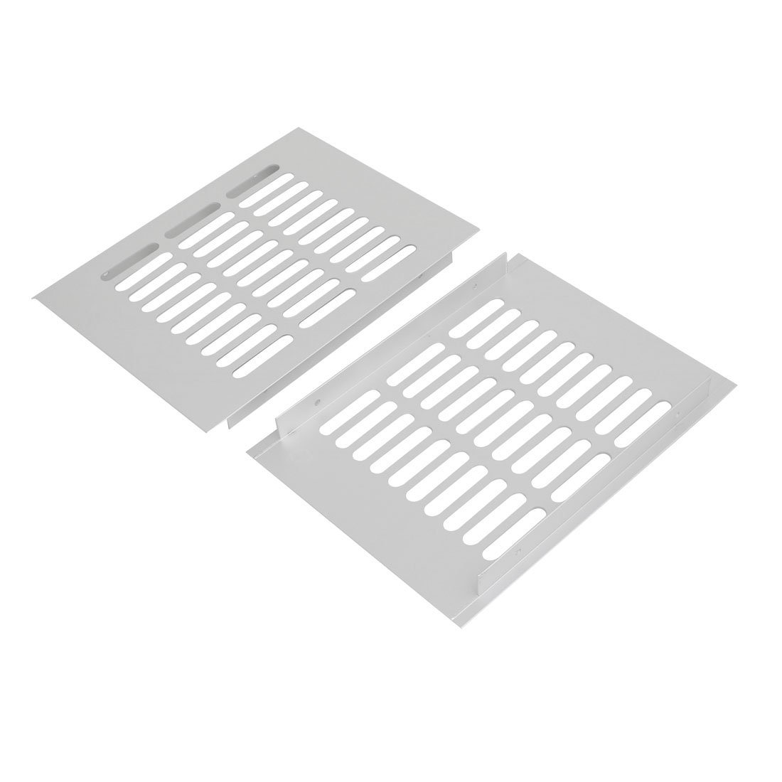 uxcell 2pcs 200mmx150mm Aluminum Alloy Air Vent Louvered Grill Cover Ventilation Grille