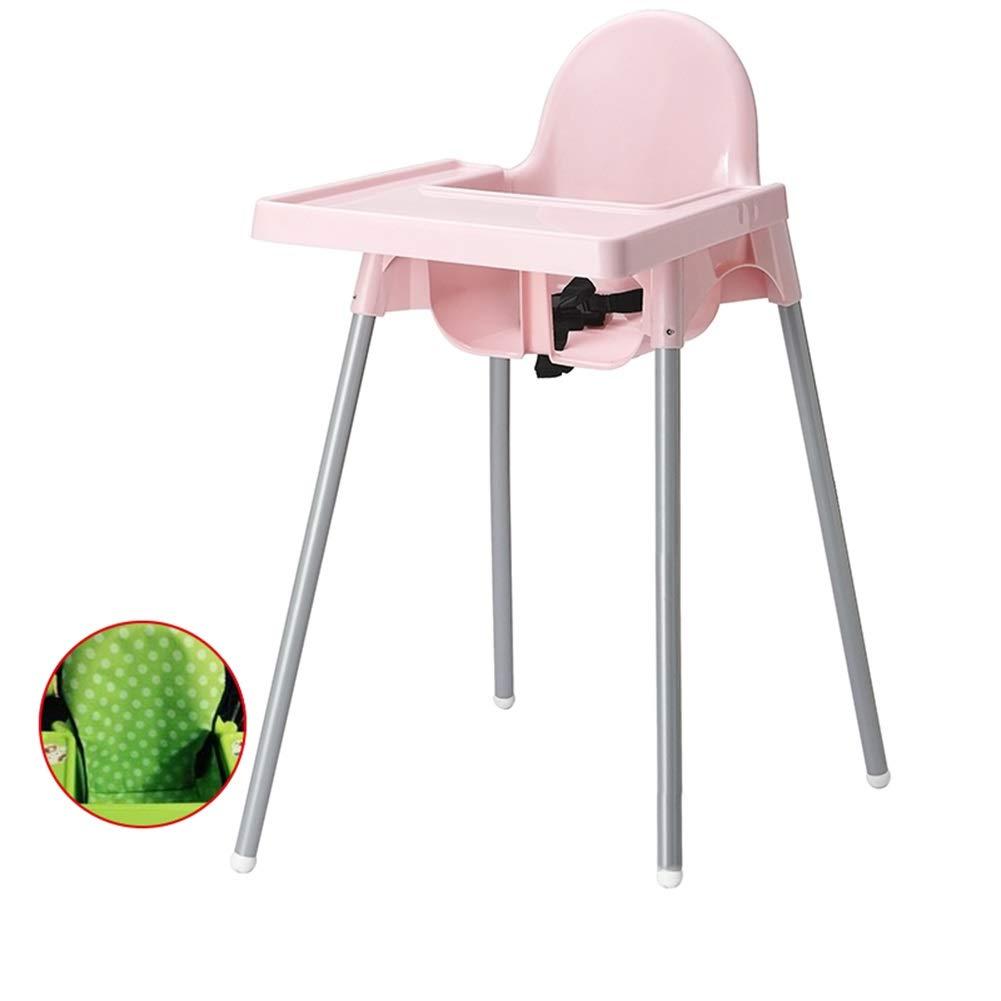 赤ちゃんのためのポータブルハイチェア、ハイチェアあなたの赤ちゃんや幼児のための、またはダイニングチェアとしての安全性 (色 : ピンク)  ピンク B07R3BPRDM