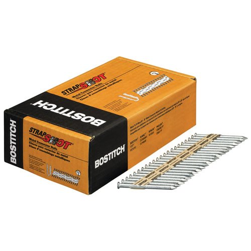 BOSTITCH PT-MC16225G.5M Galvanized Paper Tape Collated Metal Connector Nails (Pack of 500)