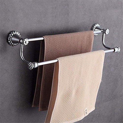 L.I. European Copper Silver Chrome Costume Accessories Bath-Towels,Double Dry Wall Pole