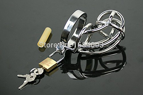 ccTina Male Chastity Devices Metal Penis Rings Cage Cock Ring Cage A081 1pcs by ccTina