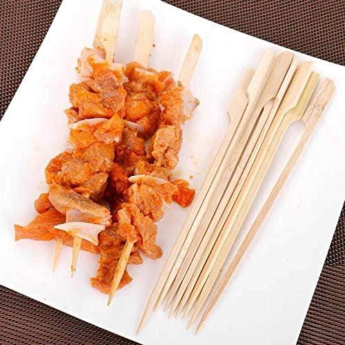 18 cm // 7 in Kebabs buffets Party Hamburguesas Coriver 120 Piezas de brochetas de Paleta de bamb/ú Barbacoa Brochetas de bamb/ú Palitos de c/óctel para Barbacoa Barbacoa