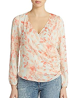 Guess Women's Bloomin Wrap Blouse