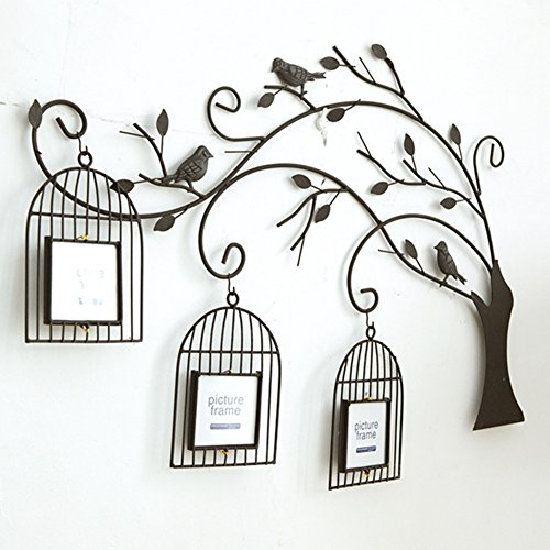 European-style bird cage tree photo wall/ creative living room wall photo frame-A by PAOSOSO