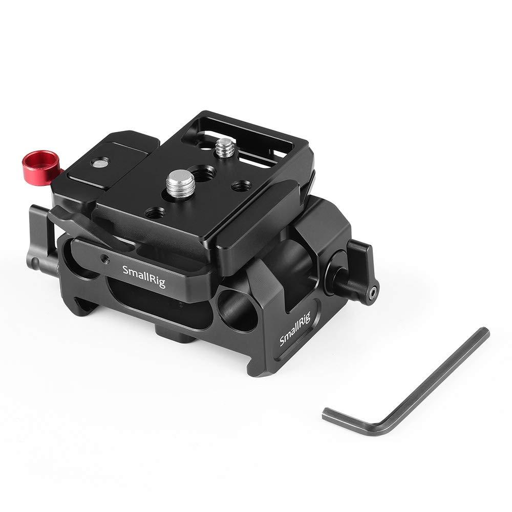SMALLRIG BMPCC 4K用ベースプレート 15mmロッドサポートシステム付き(Manfrotto 501PL互換)-2266   B07NRM5GCY
